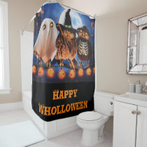 Happy Wholloween Shower Curtain