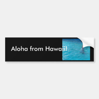 Happy wholphin tail wave bumper sticker