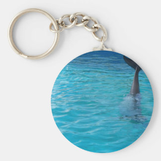Happy wholphin tail wave keychain