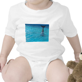 Happy wholphin tail wave t-shirt