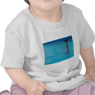 Happy wholphin tail wave t shirt