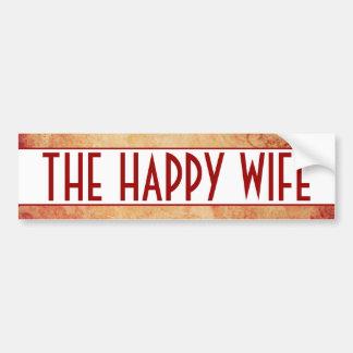 Happy Wife Bumper Sticker Car Bumper Sticker