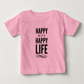 Happy Wife Funny Marriage Quote Pink T-shirt
