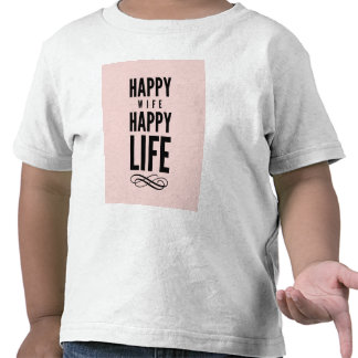 Happy Wife Funny Marriage Quote Pink Tees