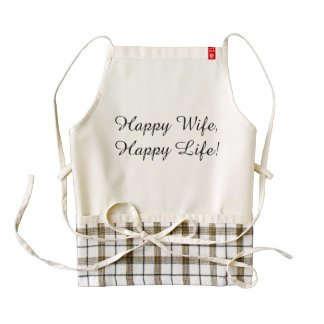 Happy Wife, Happy Life! Cooking Apron