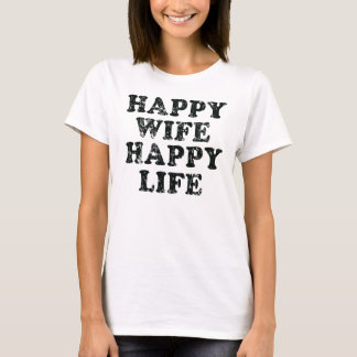 Happy Wife Happy Life funny t shirt