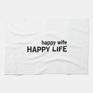 Happy Wife Happy Life Kitchen Towels