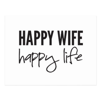 Happy Wife Happy Life Postcard