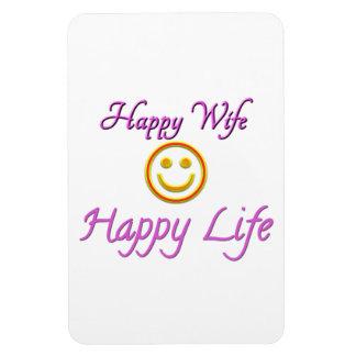 Happy Wife Happy Life Premium Flexi Magnet