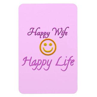 Happy Wife Happy Life Premium Flexi Magnet Flexible Magnet