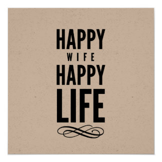 Happy Wife Wedding Gift Quote White Card