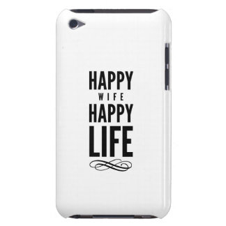 Happy Wife Wise Quote Marriage White iPod Touch Case-Mate Case