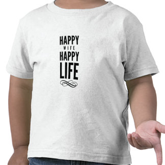 Happy Wife Wise Words Quote White Tshirts