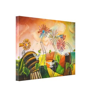 Happy Windmills Canvas Print