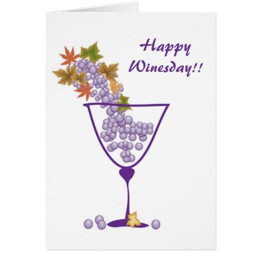 Happy Winesday!! - Card