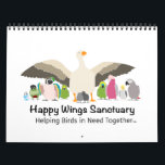"""Happy Wings Sanctuary Calendar Fundraiser<br><div class=""""desc"""">Each image here is designed based on a bird (or birds) living at Happy Wings Sanctuary. Part of the profits goes towards HWS,  to help more birds in need!</div>"""