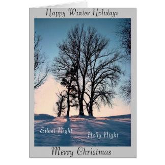 Happy Winter Holidays Card