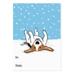 Happy Winter Snow Beagle Cute Gift Tags Business Card Templates