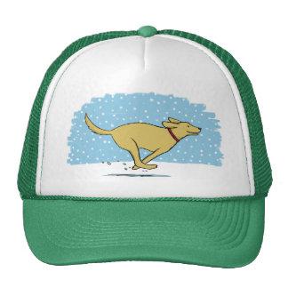 Happy Winter Snow Dog Holiday - Retriever Trucker Hat