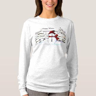 Happy Winter Snowman Tshirt