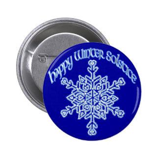 Happy Winter Solstice 2 Inch Round Button