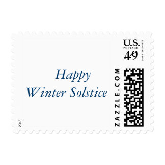 Happy Winter Solstice Postage Stamp