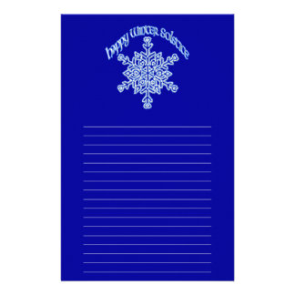 Happy Winter Solstice Customized Stationery