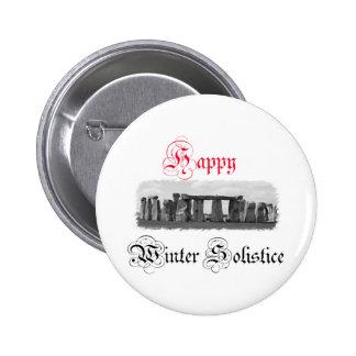 Happy Winter Solstice Stonehenge 2 Inch Round Button