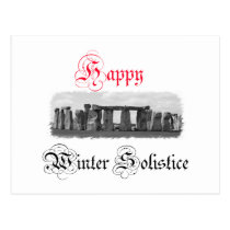 Happy Winter Solstice Stonehenge Postcard