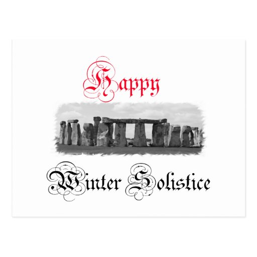 Happy Winter Solstice Stonehenge Postcard
