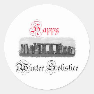 Happy Winter Solstice Stonehenge Sticker