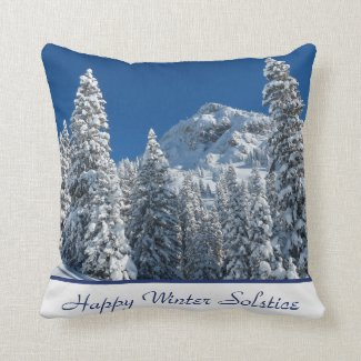 Happy Winter Solstice Throw Pillow