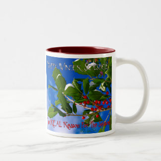 Happy Winter Solstice Two-Tone Coffee Mug