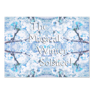 Happy Winter Solstice Yule Snow Christmas Card