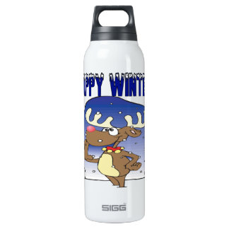 Happy Winter Thermos Bottle