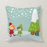 Happy Winter Throw Pillows