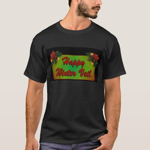 Happy Winter Veil Black T Shirt