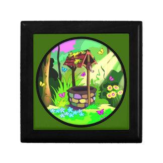 Happy Wishing Well Butterflies Forest Magic Circle Keepsake Box