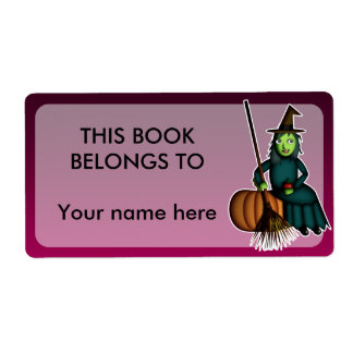Happy Witch, bookplates or shipping labels