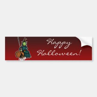Happy Witch, bumper sticker Car Bumper Sticker
