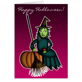 Happy Witch, greeting card