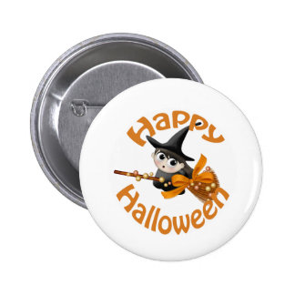 Happy Witch Pinback Button