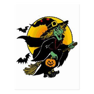 Happy Witch Postcard