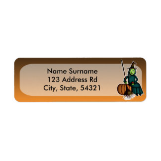 Happy Witch, return address labels