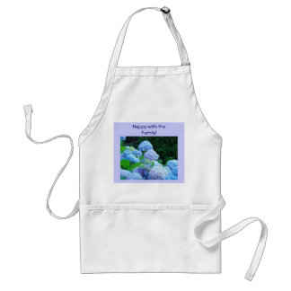 Happy with the Family! apron gifts Blue Hydrangeas