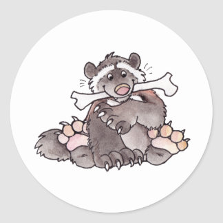 Happy Wolverine Classic Round Sticker