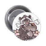 Happy Wolverine Pinback Button