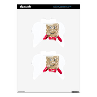 Happy woman with thumbs up xbox 360 controller skin