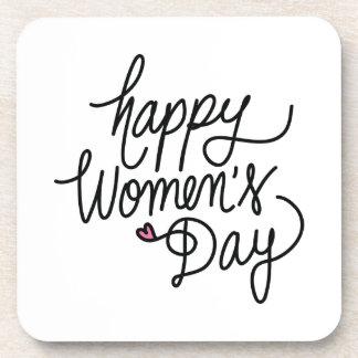 Happy Women's Day Beverage Coaster