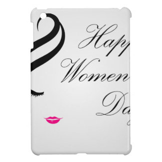 Happy womens day card with face of a lady cover for the iPad mini